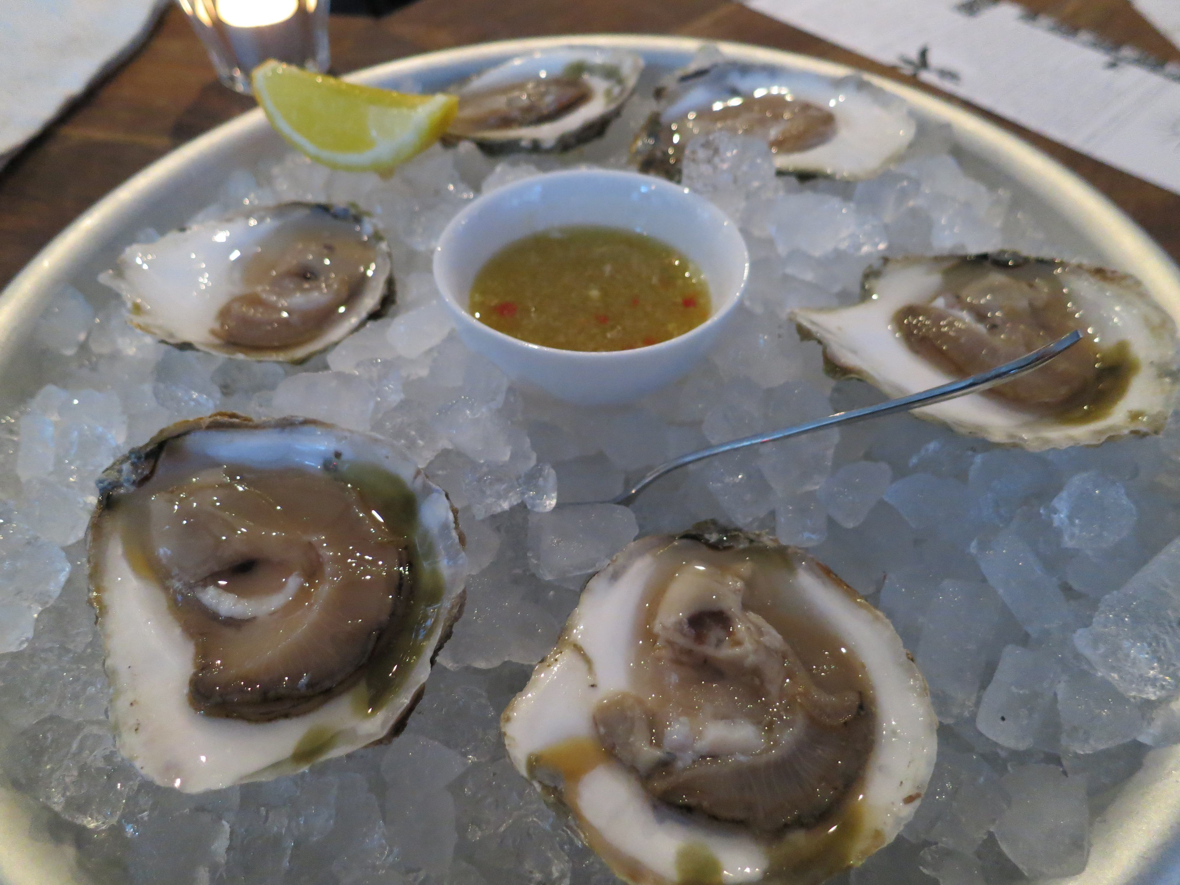 oysters at mary celeste